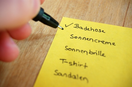 Checkliste Sommerurlaub