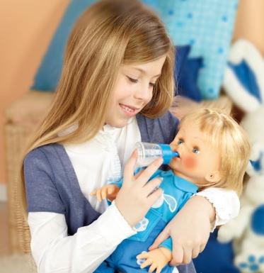 Cicciobello und Kind