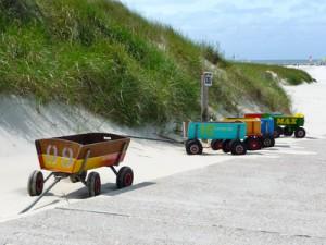 Bollerwagen am Nordseestrand